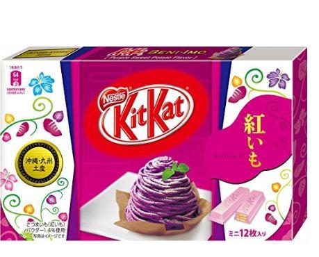 日本雀巢 Kitkat 紫薯/红薯味儿巧克力威化饼 24.37加元特卖!