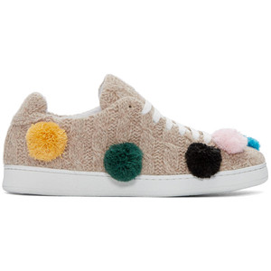 可爱又时尚!Joshua Sanders针织球球鞋 179加元(35,36码),原价 595加元,包邮