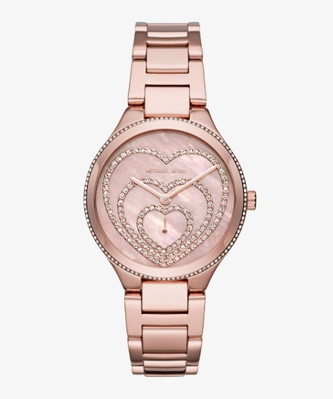 MICHAEL KORS Lainey Pavé玫瑰金三心腕表 175.88加元,原价 335加元,包邮