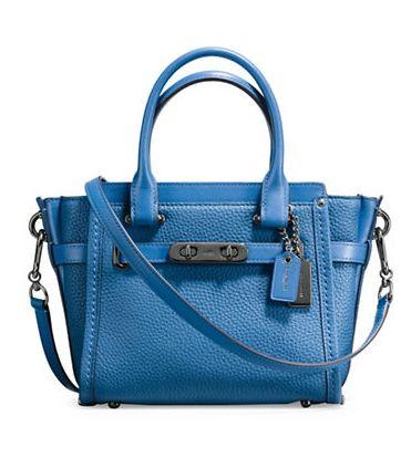 COACH Swagger 21 蓝色女士手提包 233.44加元,原价 415加元,包邮