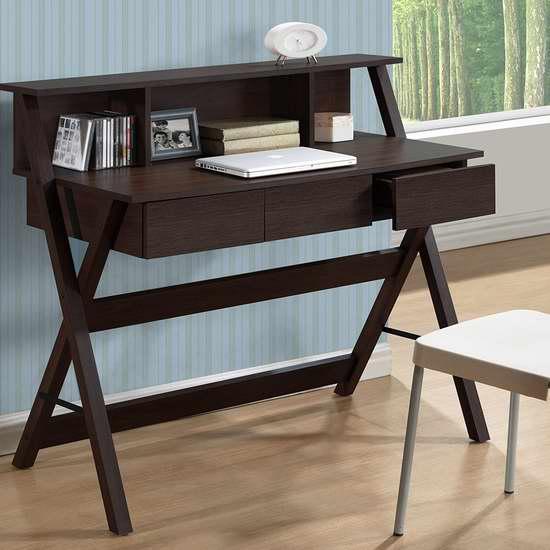 历史新低!CorLiving Folio 三抽屉书桌/办公桌5.6折 167加元特卖并包邮!两色可选!