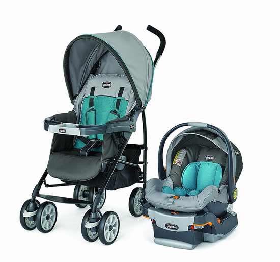 历史新低!宝宝成长御用座驾!Chicco 智高 Neuvo KeyFit 30 轻便型婴儿推车提篮安全座椅旅行套装 329.99加元限时特卖并包邮!