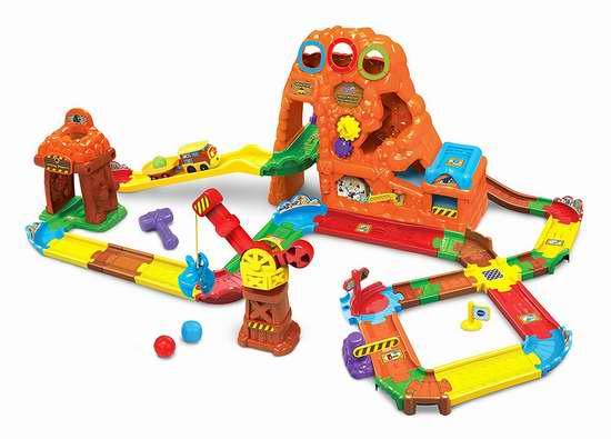 历史新低!VTech Go! Go! Smart Wheels 宝藏山火车冒险玩具套装5折 34.97加元限时特卖!