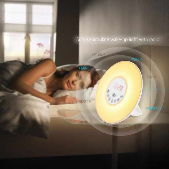 INLIFE 多功能自然唤醒灯 27.1加元限量特卖并包邮!