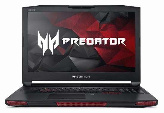 售价大降!历史新低!Acer 宏碁 高端电竞 Predator 掠夺者 GX-791-73FH 17.3英寸顶级游戏笔记本电脑5折 1940.63加元限时清仓并包邮!