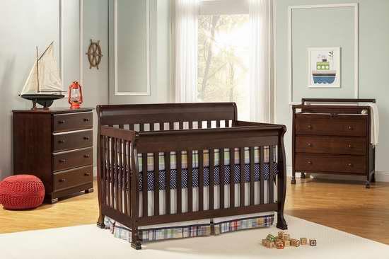 历史新低!DaVinci Cameron 四合一多功能成长型婴儿床 229.99加元限时特卖并包邮!两色可选!