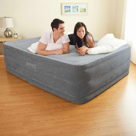 历史新低!Intex Comfort Plush Elevated Dura-Beam 22英寸加高Queen充气床 70.65加元限时特卖并包邮!