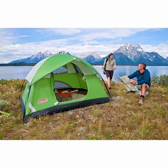 Coleman Sundome 2人圆顶野营帐篷 56.96加元限时特卖并包邮!