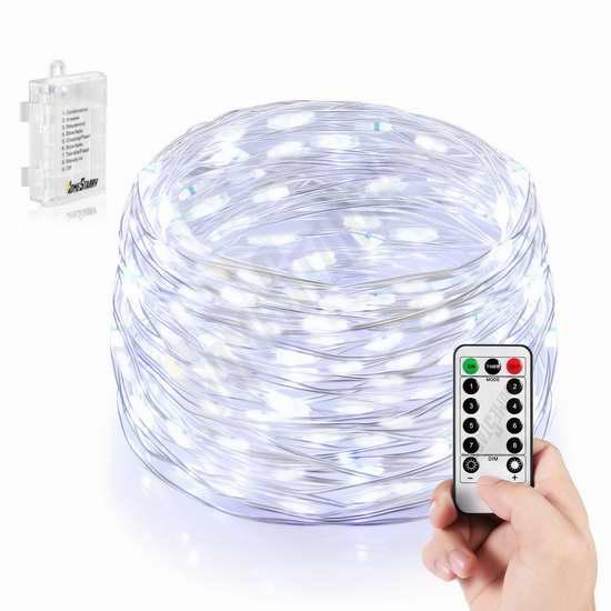 HomeStarry 66 LED 银色线灯2折 10.15加元限量特卖!