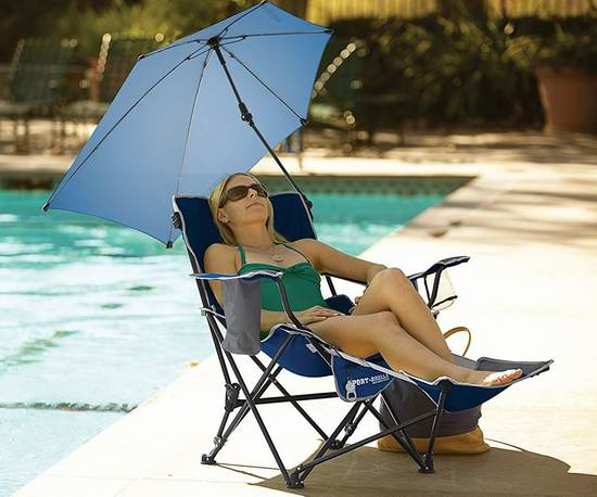 历史新低!SKLZ Sport-Brella 便携折叠式躺椅+太阳伞套装 77.65加元限量特卖并包邮!