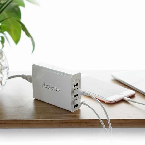 独家!dodocool QC 3.0 快充 5口USB充电器 19.99加元限时特卖并包邮!
