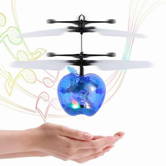 OCDAY 炫酷声光 红外感应手控水晶球直升机 11.89-12.74加元限量特卖!4色可选!