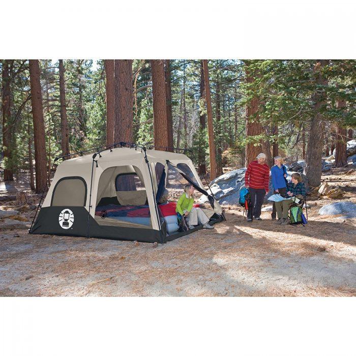 历史新低!Coleman Instant 1分钟快速搭建 8人家庭野营超大帐篷 243.01加元包邮!美亚1900好评!
