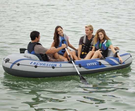 Intex Excursion 4人坐充气船/橡皮艇/钓鱼船5.6折 146.99加元包邮!