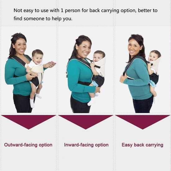 Ecosusi 超强三坐姿婴儿背带 31.44加元限量特卖并包邮!两色可选!