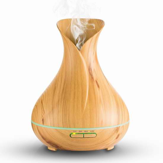Papake 400ml 木纹超声波香薰/精油雾化加湿器 41.16加元限量特卖并包邮!