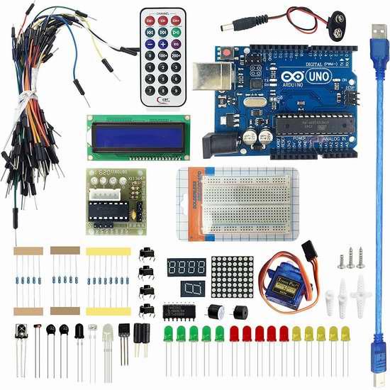 LANDZO Arduino UNO R3 入门学习套件 17.74加元限量特卖!