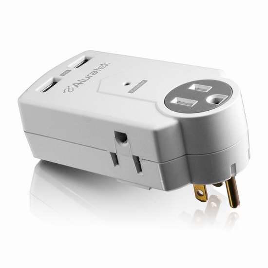 历史新低!Aluratek AUCS05F 浪涌保护 迷你2口USB充电+3口插座2.5折 6.85加元限时清仓!
