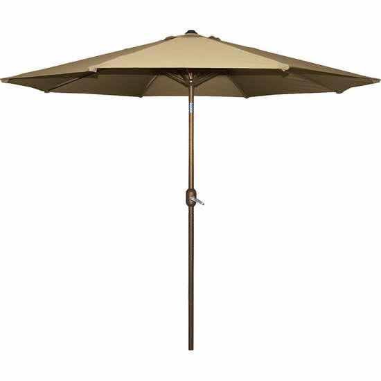 历史新低!Bond 65677 9英尺庭院遮阳伞 59.99加元限时特卖并包邮!