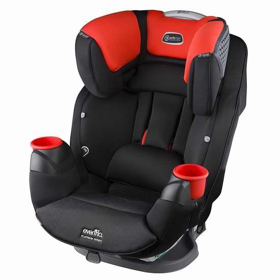 历史新低!新款 Evenflo Platinum SafeMax 红色成长型儿童汽车安全座椅 299.97加元限时特卖并包邮!