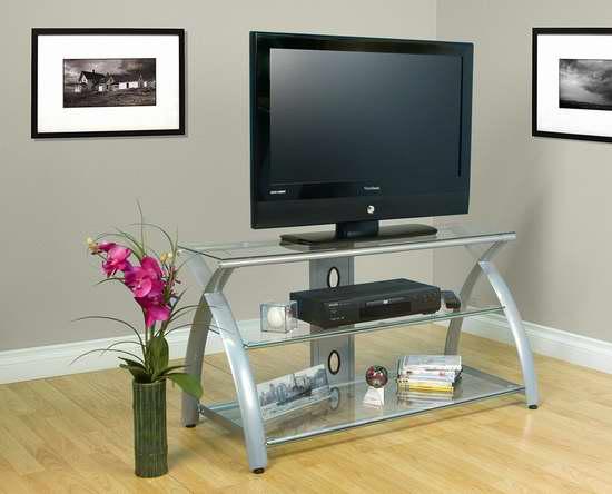 历史新低!Studio Designs Futura 42英寸钢化玻璃电视柜1.8折 56.73加元限时清仓并包邮!