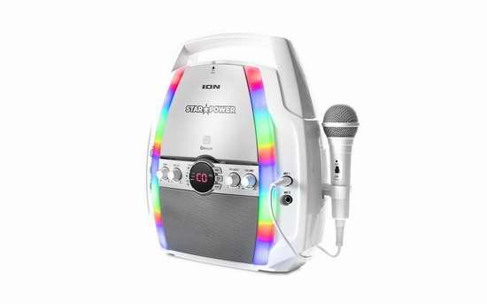 历史新低!Ion Audio Star Power 便携式无线蓝牙CD播放卡拉OK机5折 53.96加元限时特卖并包邮!
