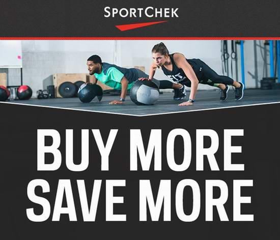 最后一天!Sport Chek 精选大量服饰、鞋靴、自行车、运动器材等5折起限时特卖!买多省多,最高额外立减75加元!