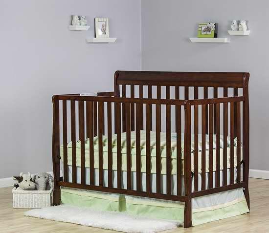 历史新低!Dream On Me Alissa 四合一多功能成长型实木婴儿床 159.03加元限时特卖并包邮!