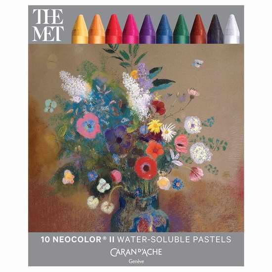 历史新低!Caran d'Ache Classic Neocolor II 专业水溶性蜡笔(15色) 29.18加元限时特卖!