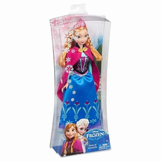 历史新低!Disney 迪士尼 Frozen 冰雪奇缘 Sparkle Anna 安娜公主玩偶2.5折 6.22加元限时清仓!