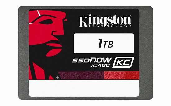 历史新低!Kingston 金士顿 SSDNow KC400 SKC400S37 2.5英寸 1TB 超大容量固态硬盘 327.21加元限时特卖并包邮!