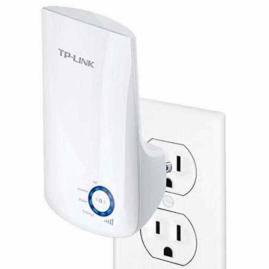 TP-Link TL-WA850RE 300Mbps 通用无线wifi信号延伸/中继器 24.99加元限时特卖!