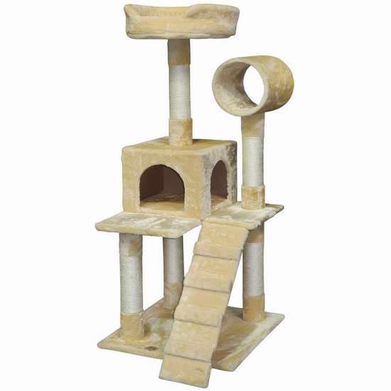 历史新低!Go Pet Club F75 50英寸猫树公寓/猫爬架 76.28加元限时特卖并包邮!