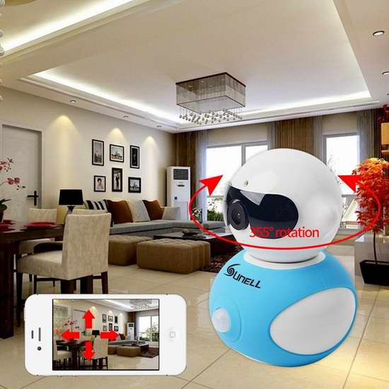 Hotkey 960P 迷你机器人 无线Wi-Fi夜视安全监控摄像头 30.59加元限量特卖并包邮!