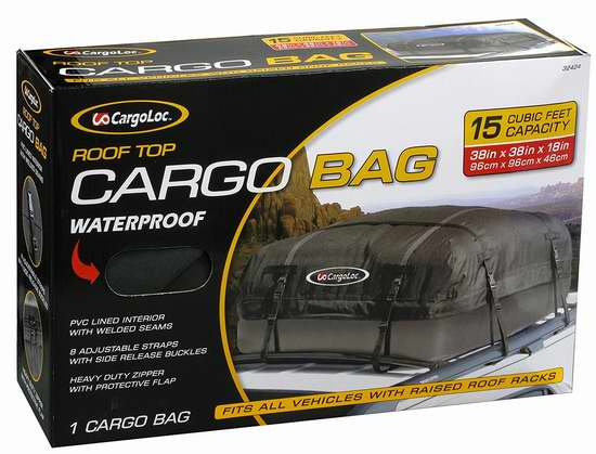 历史新低!Cargoloc 32424 豪华车顶防水行李包6.1折 39.12加元包邮!