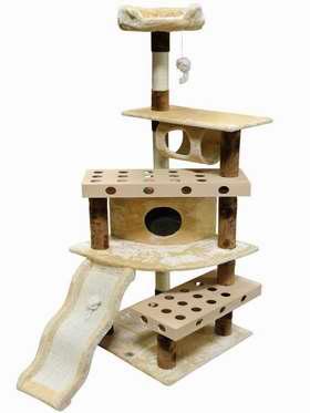 历史新低!Go Pet Club IQ Busy Box SF054 50英寸猫树公寓/猫爬架 92.11加元限时特卖并包邮!