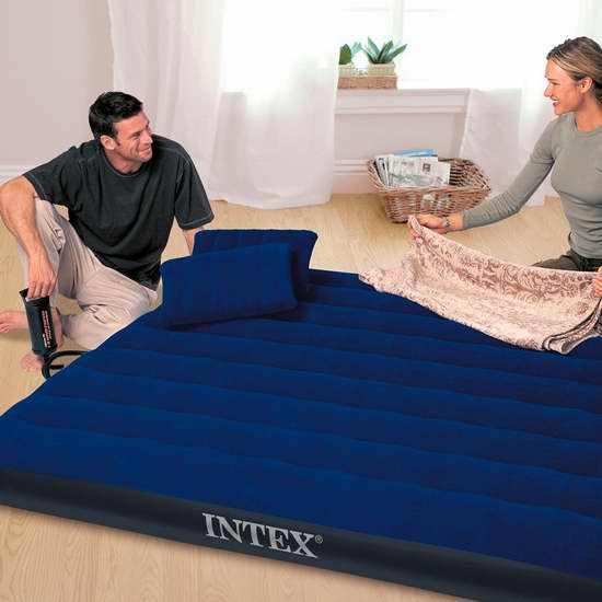 销量冠军!Intex 经典款 Queen 充气床+双枕头+充气泵3.2折 23.36加元!