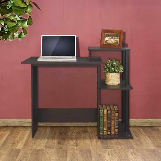 历史最低价!Furinno 11192EX/BK 99797E 电脑桌3.8折 36.04加元包邮!两色可选!