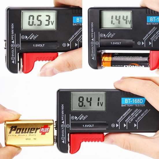 Hapurs 通用数字电池电量测试仪3.2折 8.22加元限量特卖!