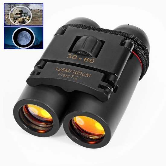 REDGO 30X60 紧凑型双筒望远镜 11.5加元限量特卖!