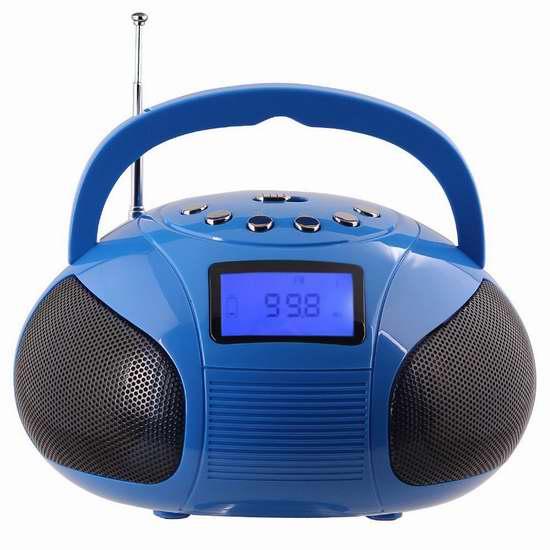August SE20 充电式迷你蓝牙立体声MP3播放机/FM收音机/闹钟 23.58加元限量特卖!三色可选!