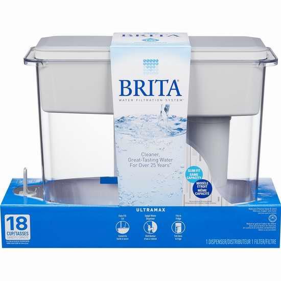 Brita 德国碧然德 UltraMax 18杯超大容量家用滤水壶 38.87加元限时特卖!