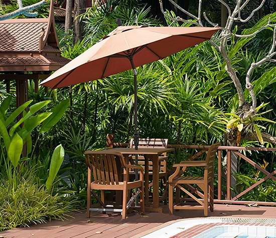 白菜价!历史新低!California Umbrella SDAU908900-SA03 9英尺豪华可倾斜庭院遮阳伞2折 52.67加元清仓并包邮!