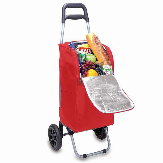 历史新低!ONIVA 野餐时间 拉杆式保温购物车/买菜车4.2折 30.96加元限时特卖!