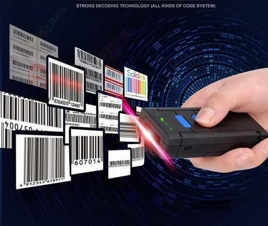 Eyoyo 便携式蓝牙无线条形码扫描器/扫码器 56.09加元限量特卖并包邮!