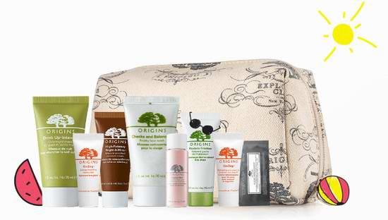 Origins 悦木之源全天然护肤品 购物满80加元再送价值55加元9件套护肤大礼包!