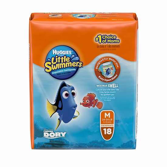 售价大降!历史新低!Huggies 好奇 婴幼儿游泳纸尿裤(小号及中号 18-20件套)1.7折 9.99加元限时清仓!
