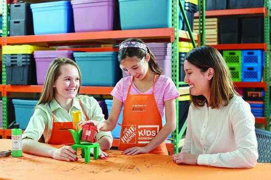 Home Depot 5月13日免费儿童手工课,制作花朵小花盆,本月另有3个家庭装修免费课程!