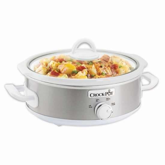 历史最低价!Crock-Pot 2.5夸脱椭圆形慢炖锅 24.98加元限时特卖!