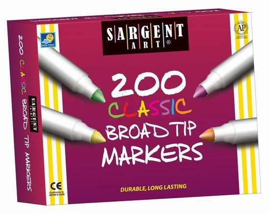 历史新低!Sargent Art 22-1527 经典马克笔200支装2.5折 26.17加元限时清仓!